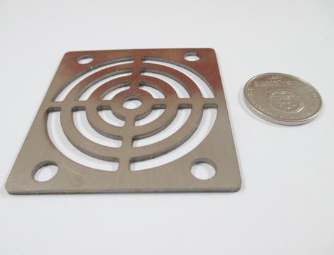 圆孔金属激光切割成品